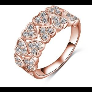 💕Heart 2 Heart Rose Gold Tone Ring💕